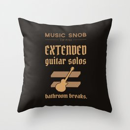 Solos = DON'T GO-s! — Music Snob Tip #723 Throw Pillow