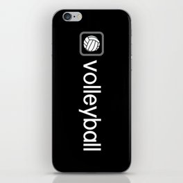 Volleyball (Grey) iPhone Skin