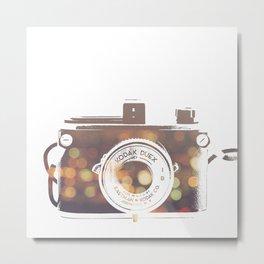 Camera rainbow Metal Print