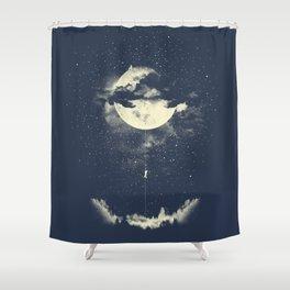 MOON CLIMBING Shower Curtain