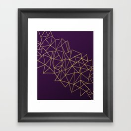Ultra Purple Geo Framed Art Print