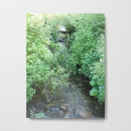 A stream runs through it Metal Print