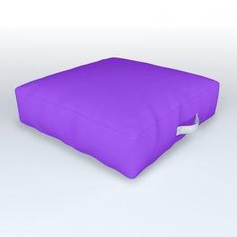 Bright Fluorescent Neon Purple Outdoor Floor Cushion