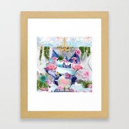 Flamingo Bathhouse Framed Art Print