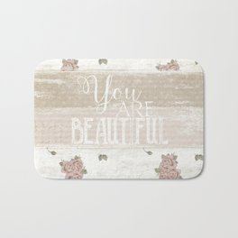 Shabby Chic 'You are Beautiful' Bath Mat