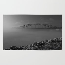 Julian Dubuque Bridge and the Mississippi River Rug