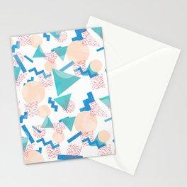 90's Pastel Geometric Pattern Stationery Cards