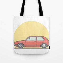 Golf Mk1 GTI vector illustration Tote Bag