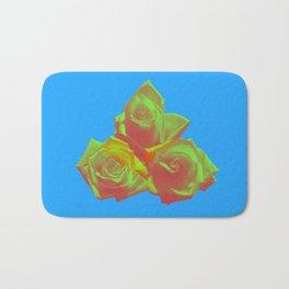 Neon Rose - Triplet - Azure Bath Mat