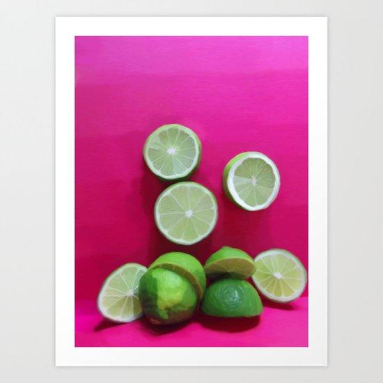 Cherry Limeade Art Print