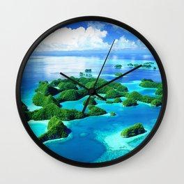 70 Wild Islands Palau Wall Clock