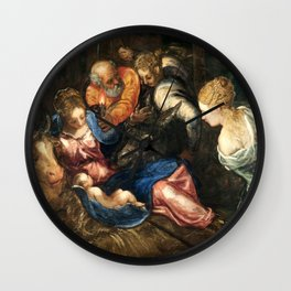 """Tintoretto (Jacopo Robusti) """"Nativity"""" Wall Clock"""