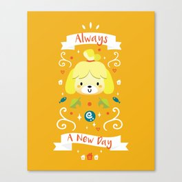 Animal Crossing: Isabelle Canvas Print