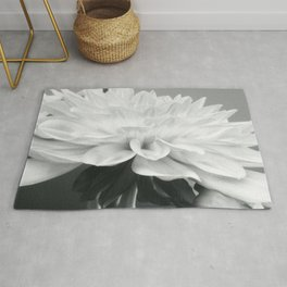 Dahlia Delicacy in Black and White Rug