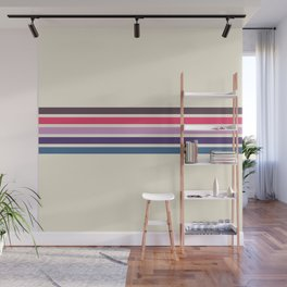 Five Trendy Stripes on White 17 Wall Mural