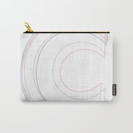 Intertwined Strength and Elegance of the Letter C Carry-All Pouch