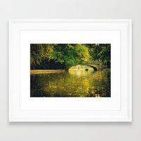 rowing Framed Art Prints featuring Rowing by nature by Eduard Leasa Photography