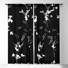 Plants & Paper clips Photogram Blackout Curtain