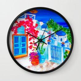 Santorini porch Wall Clock