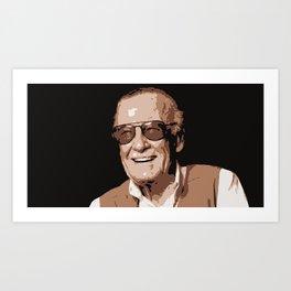 Mr Stan Lee, vintage picture Art Print
