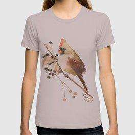 Cardinal Bird and Fall Berries T-shirt
