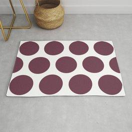 Large Polka Dots: Burgundy Rug