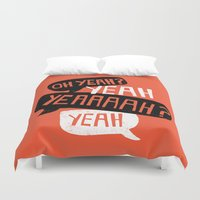 android Duvet Covers featuring The Courage Of Your Convictions by NOT MY TYPE