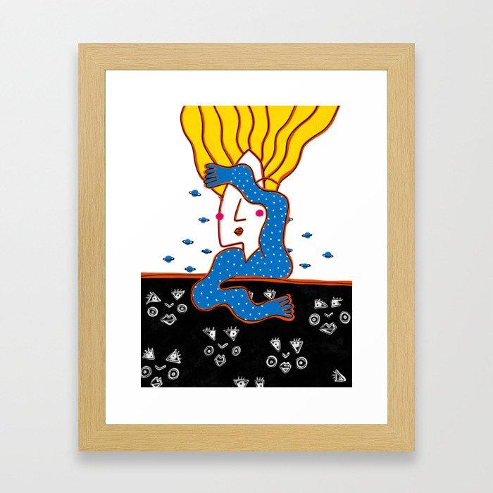 DEEP SLEEP DIVING #2 Framed Art Print