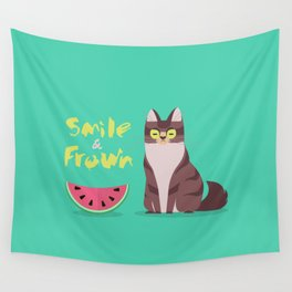 Smile and Frown Wall Tapestry