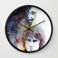 thorin Wall Clocks featuring Thorin and Bilbo by Kinko-White