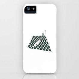 White Shadow-sketch iPhone Case