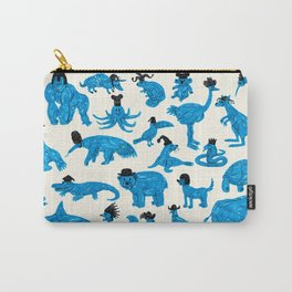 Blue Animals Black Hats Carry-All Pouch