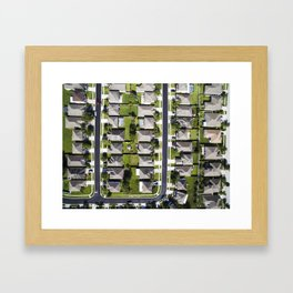 Home is ... Here??     Drone Photography Framed Art Print