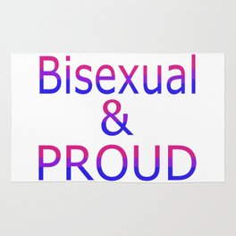 Bisexual and Proud (white bg) Rug