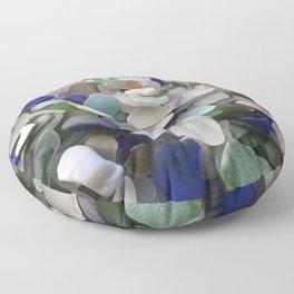 Sea Glass Assortment 5 Floor Pillow