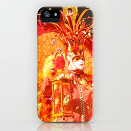 Masked Phoenix of The Annecy Carnaval iPhone Case