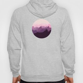 Mountains in Pink Fog Hoody