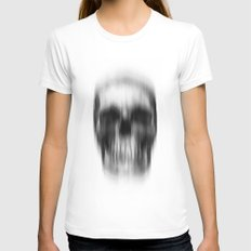 Skull X-LARGE White Womens Fitted Tee