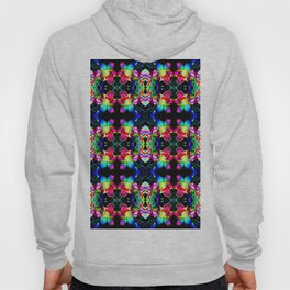 Colorful  Bright Seamless Flower Pattern Hoody
