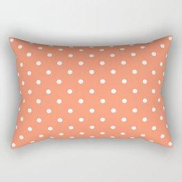 Peach Polka Dots Rectangular Pillow