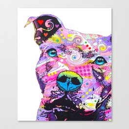 Colourful Pit Bulls, Pit Bulls Gift Canvas Print