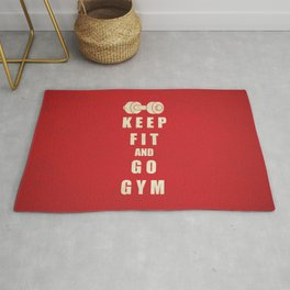 Keep Fit and Go GYM Quote Rug