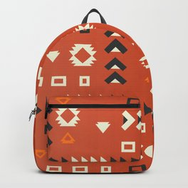 American native shapes in red Backpack