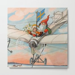 """""""The Christmas Aeroplane"""" by Jenny Nystrom Metal Print"""