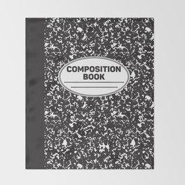 Composition Notebook College School Student Geek Nerd Throw Blanket