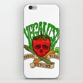 Veganism iPhone Skin