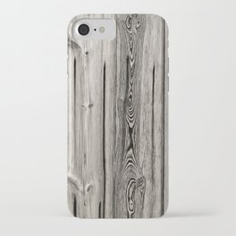 Black white and grey  wooden floor iPhone Case