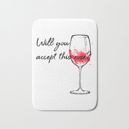 Will You Accept This Rose Charming Proposal Design Bath Mat
