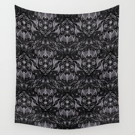 Bats And Beasts - Black and Gray  Wall Tapestry
