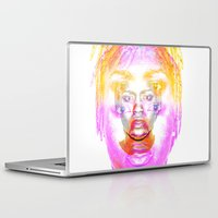 depression Laptop & iPad Skins featuring The Faces of Depression by Tobia St Germain
